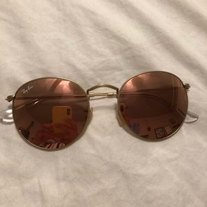 Women's Ray Bans Rose Gold